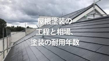 屋根塗装の工程と相場、塗装の耐用年数が分かる